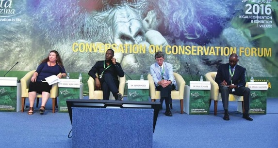 Officials at the conversation on conservation Forum held in Kigali.