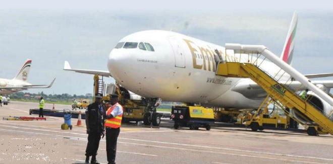 If it is revived, Uganda Airlines will have to compete with global carriers such as Etihad Airways (L) and Emirates Airlines.IN DEPENDENT/JIMMY SIYA