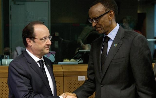 French President Francois Hollande and Rwanda President Paul Kagame.