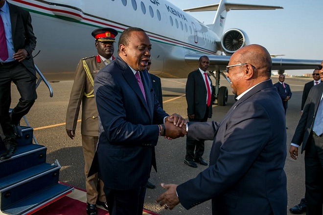 Kenyatta in Sudan as African decisions loom on ICC
