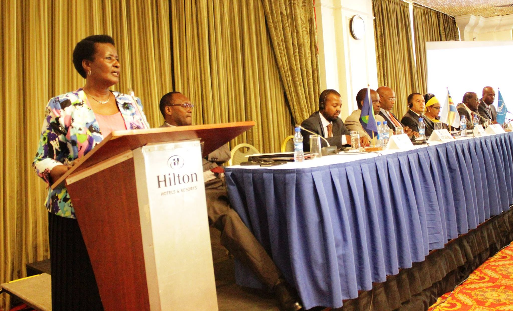 Minister Kyambadde addressing the meeting in Nairobi on Sunday.