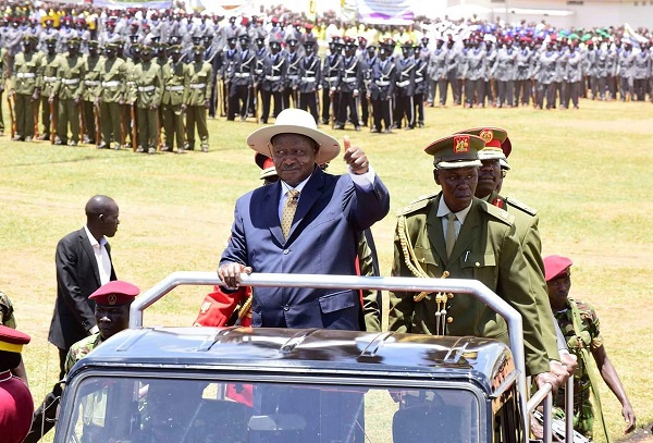 President Museveni soon after arriving for the Independence Day celebrations