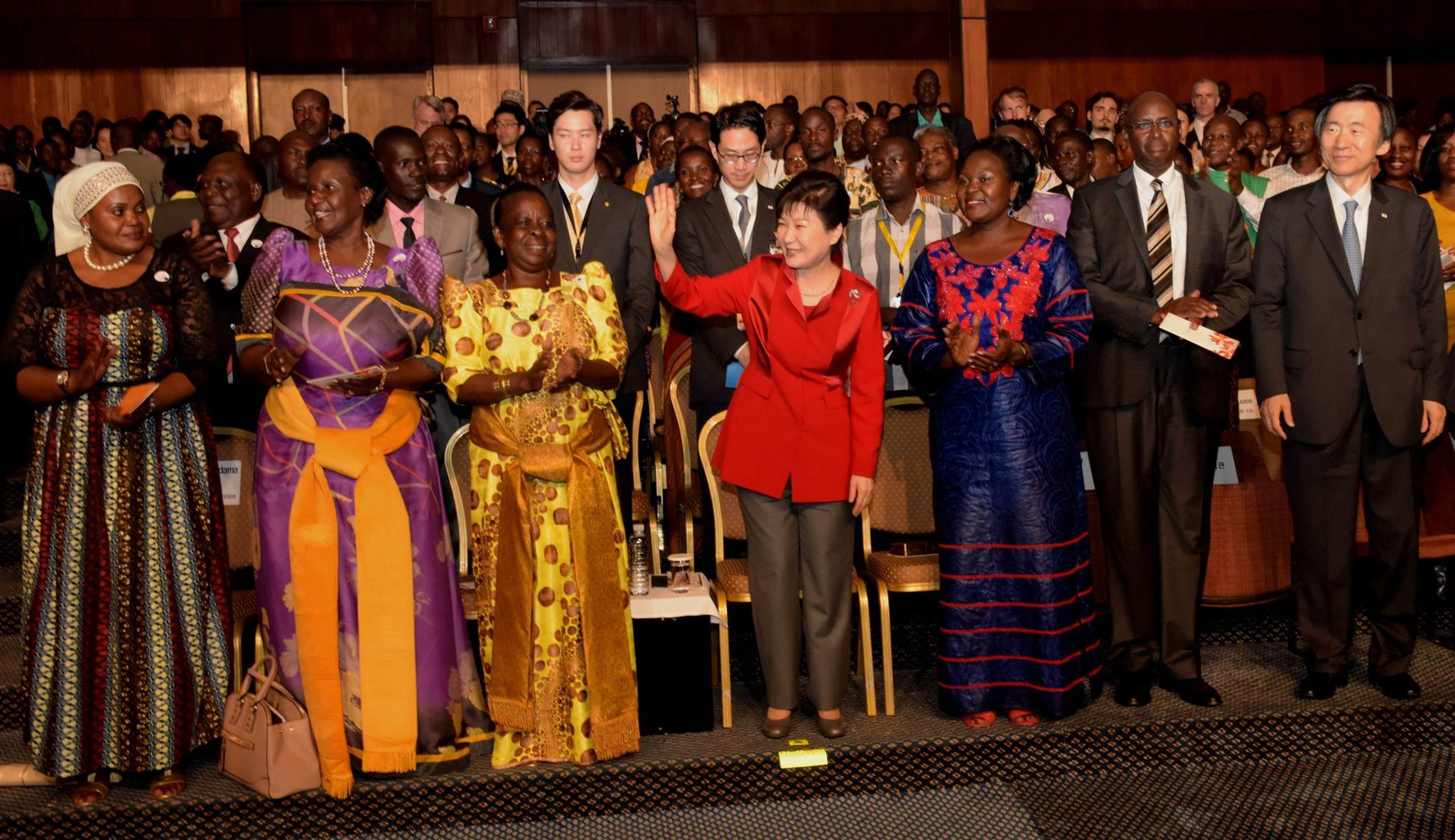 Park Geun-Hye when she visited Uganda in May