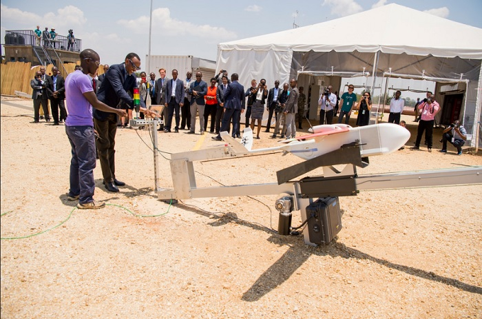 President Kagame at the launch of Medical Delivery Drones | Muhanga, 14 October 2016