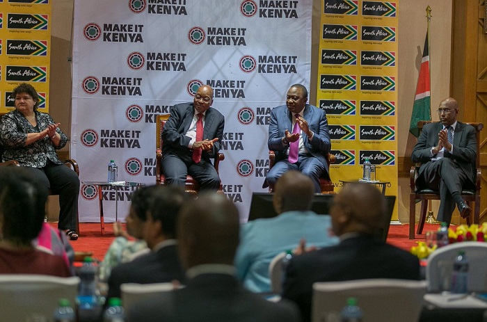 Zuma and Kenyatta talk to the press today in Nairobi