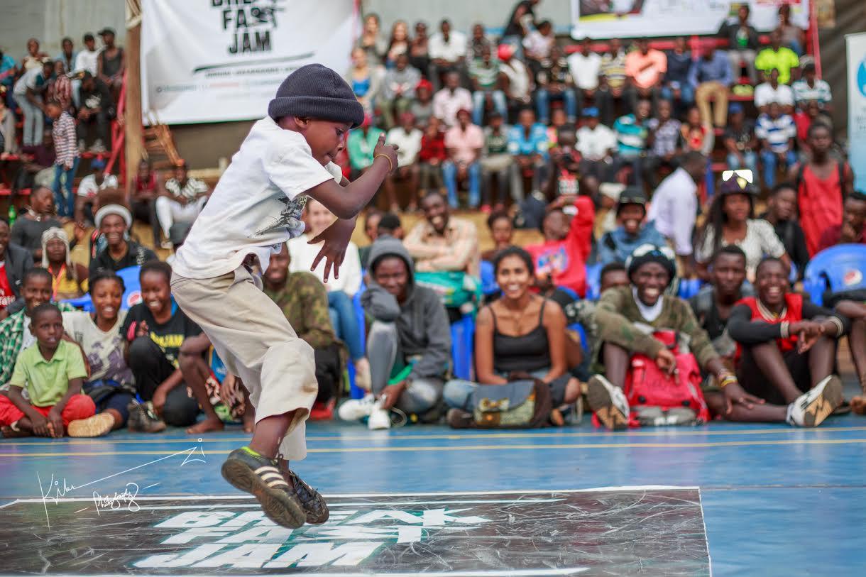 Kids winner Ndaula does his thing at the YMCA. PHOTOS BY BPU