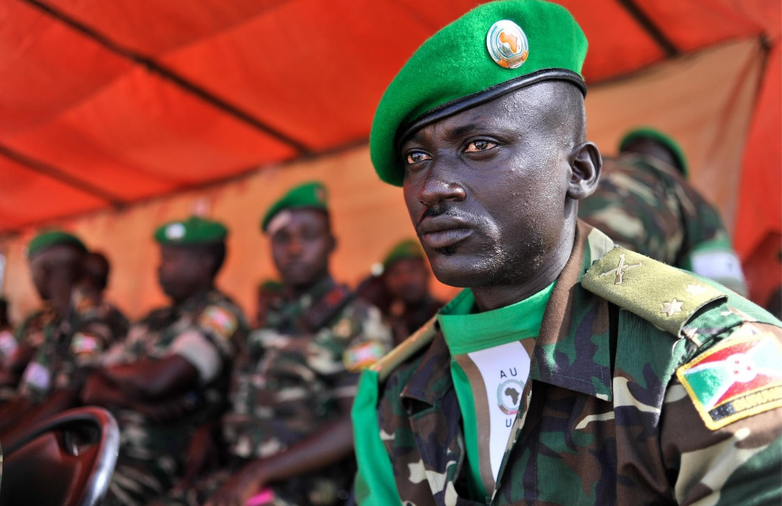 An AMISOM Burundi solider. EU wants to pay them directly for their work in Somalia.