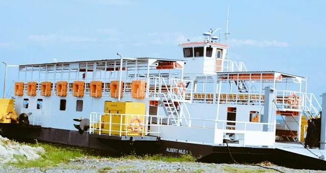 One of the ferries on Lake Albert. The Wanseko- Panyimur Ferry