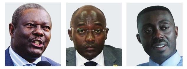 (L-R) Kabagambe Kaliisa, Harrison Mutikanga and Stephen Isabalijja