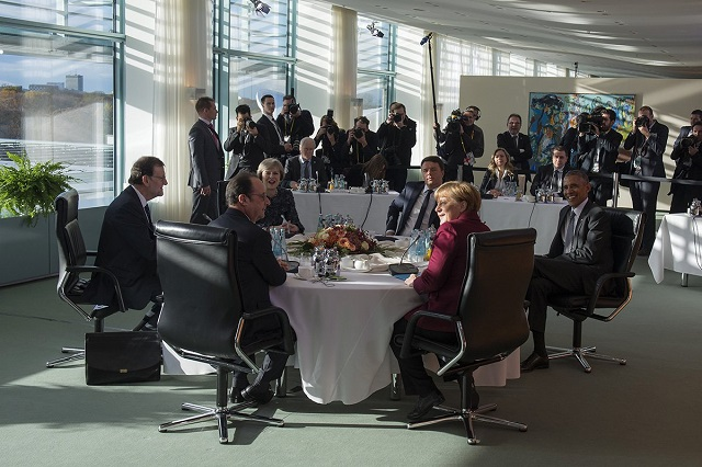 Merkel this week talked to concerned world leaders including Hollande and Obama.