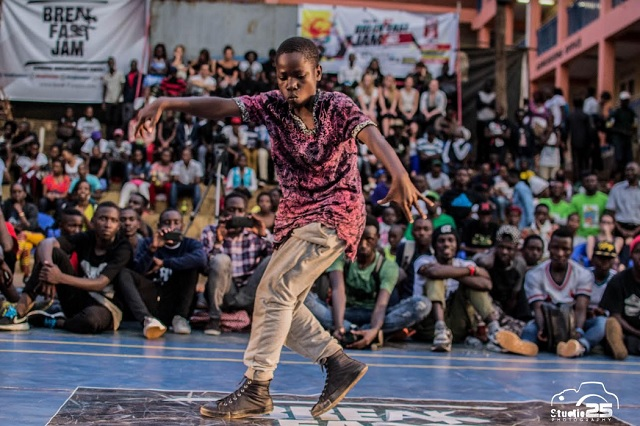 Kids winner Ndawula does his thing at the YMCA. PHOTOS PIUS KIBAZZI