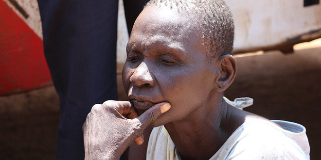 A refugee in Uganda from South Sudan.