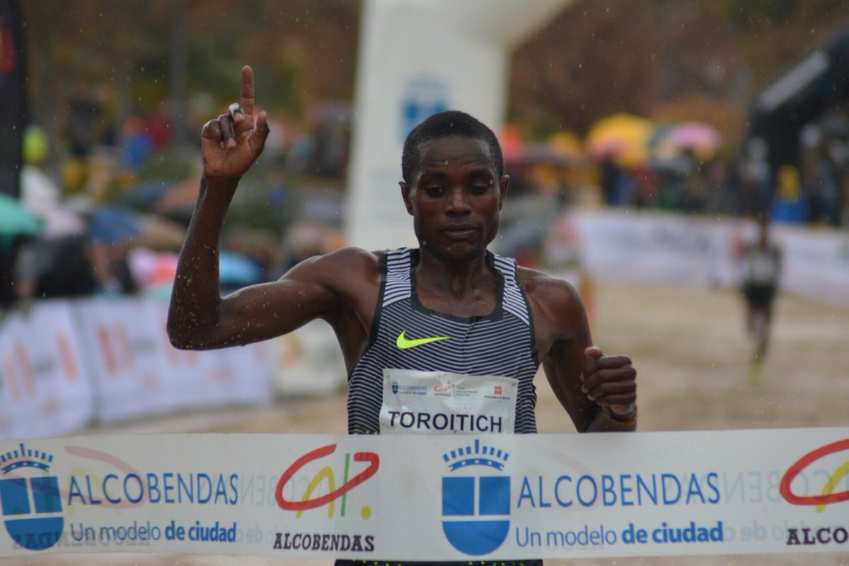 Toroitich wins. IAAF PHOTO