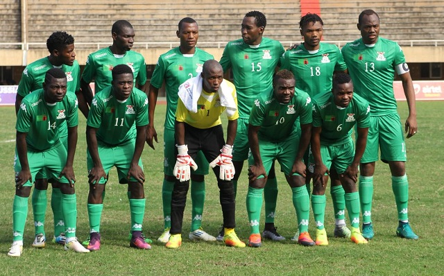 The Zambia side that beat Uganda Cranes. PHOTO FUFA MEDIA