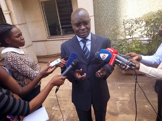 Byabakama talks to press after facing parliament vetting committee