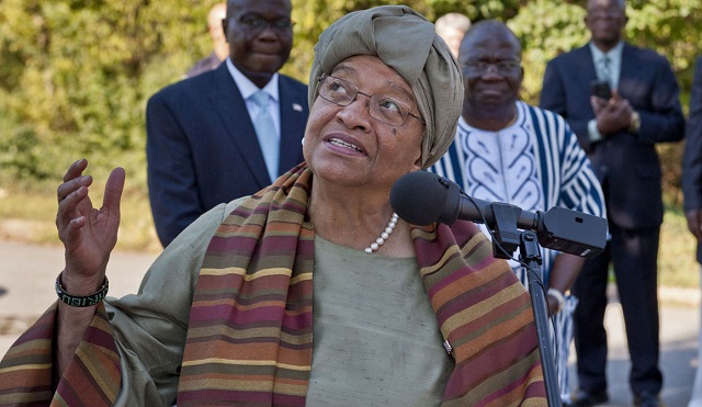 Liberian president Sirleaf  refused entry.