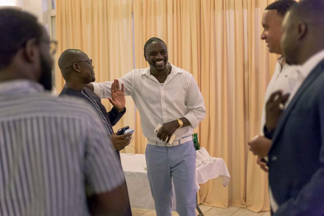Rapper Akon in Gambia, lights up two  African nations