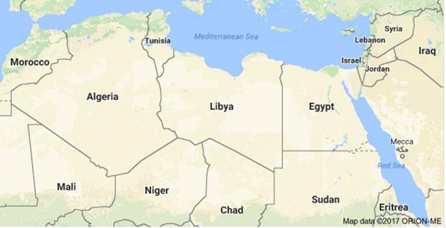 Haftars Libya Expels Sudan Diplomats - Map of egypt libya and sudan