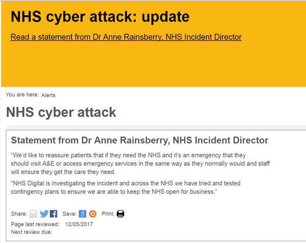 Six NHS trusts yet to return to normal after cyber attack