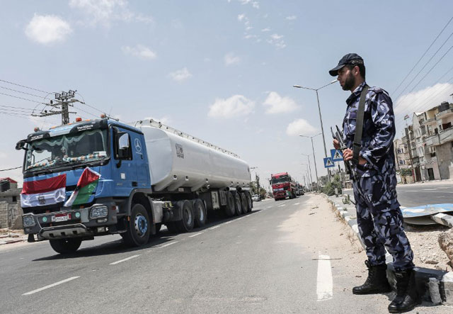 Egypt sends fuel for Gaza's only power plant as Hamas links thaw