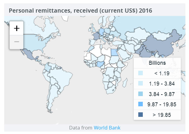 Poorer Countries Remittances To Grow Again In World Bank - Poorest countries in the world map