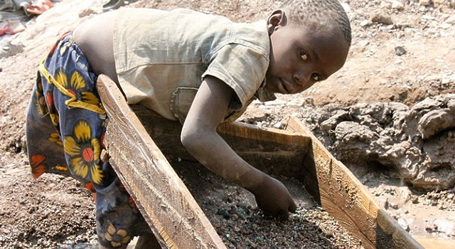 Children Mining Cobalt For Electric Cars