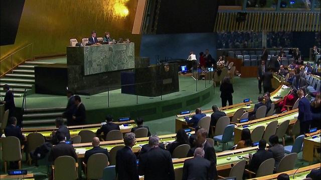 UN votes 128-9 to reje...