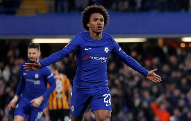 Chelsea readied for Barca test as Willian leads rout of Hull