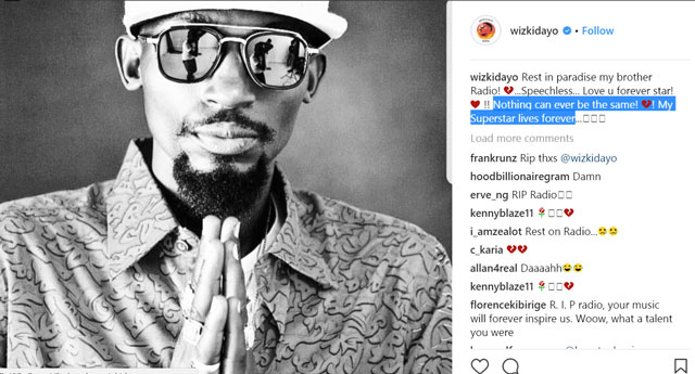 Africa's top musicians Peter, Paul Okoye and WizKid hail Mowzey Radio