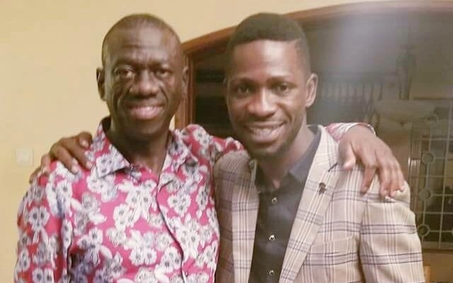 Image result for bobi wine and kizza besigye