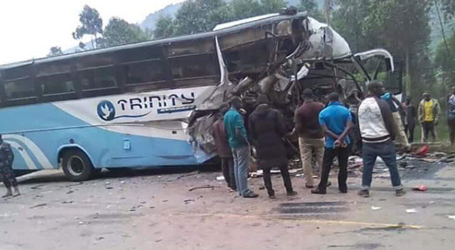 Two dead, 11 injured in Kabale bus accident