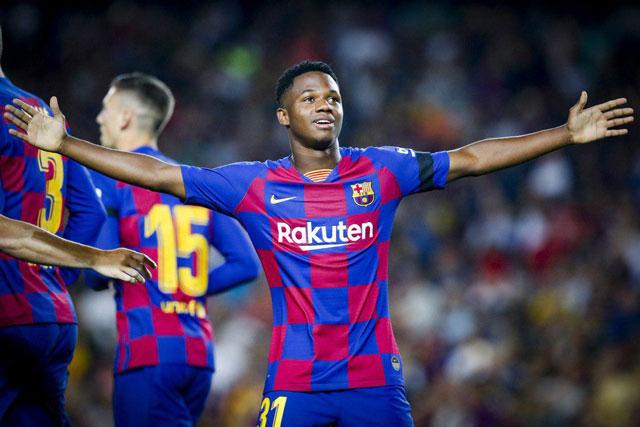 Ansu Fati becomes youngest ever Barcelona goalscorer in La ...  |Ansu Fati